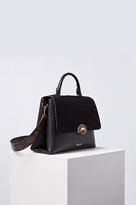 Tabitha Black Top Handle Cross Body Bag