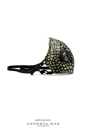 Reptile Leather Face Mask