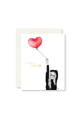 Love is in the Air with Gold Foil Greeting Card