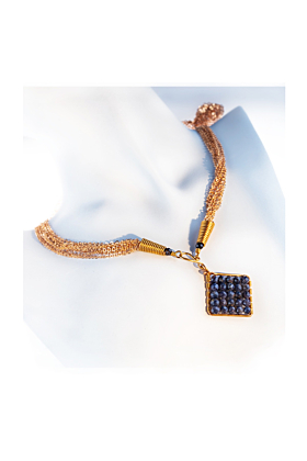 Gold-Filled Jazzie Natural Blue Sapphire Necklace