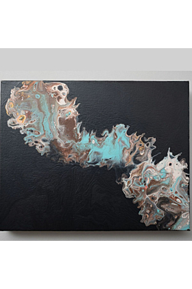 Meeting Point of the Waters Original Fluid Art Painting