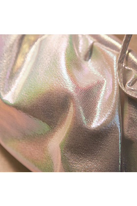 Melody Iridescent Cloud Bag | White