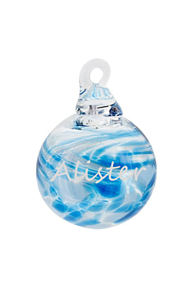 Glass Personalised Mini Bauble