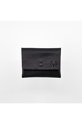 MINI WALLET 2.0 Black Small Leather Wallet With Two Compartments