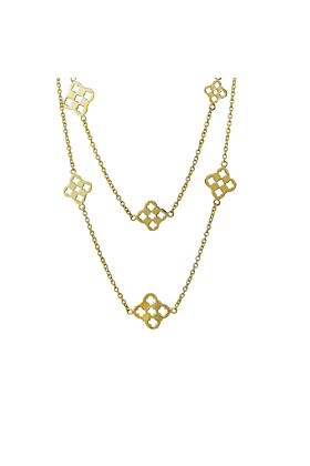 14kt Yellow Gold Primrose Necklace