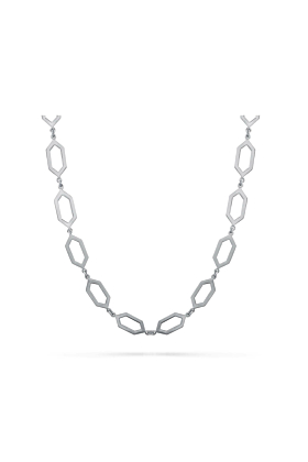 Sterling Silver Graphite Style Necklace