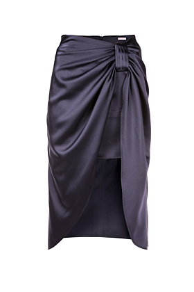 Navy Blue Satin Naples Skirt