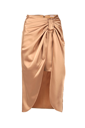 Cream Satin Parma Skirt