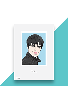 Noel Gallagher Hand and Digitally Drawn Poster