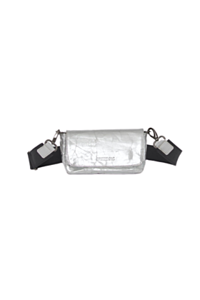 Silver Convertible Leather Belt Bag