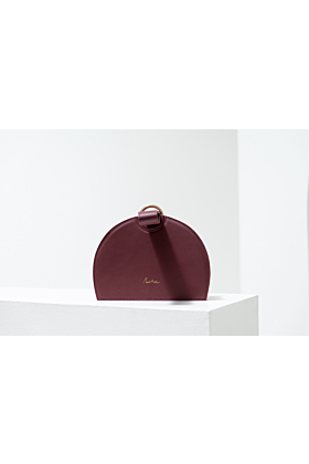 """The Moon"" Leather Handbag in Burgundy"