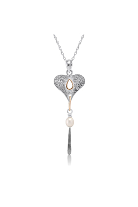 Sterling Silver Textured Heart Pendant