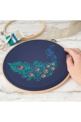 Peacock Embroidery Kit
