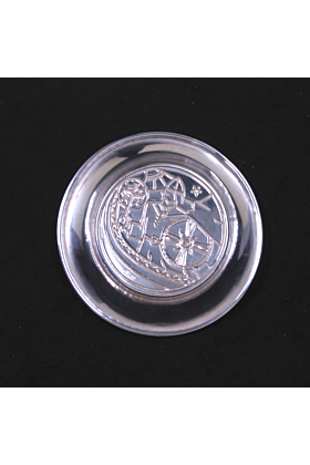 OF Hjortdahl Champleve Silver Pin Dish