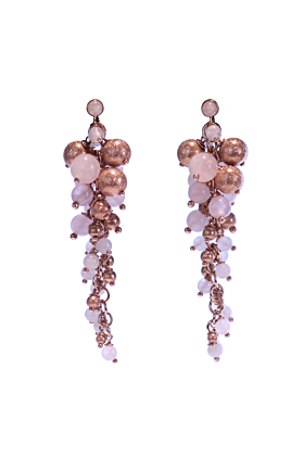 18kt Rose Gold Vermeil Pink Prosecco Earrings