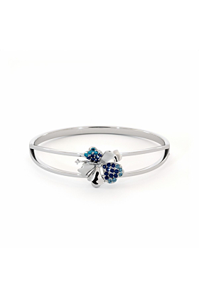 Hibiscus Bangle with Sapphire, Blue Topaz and CZ