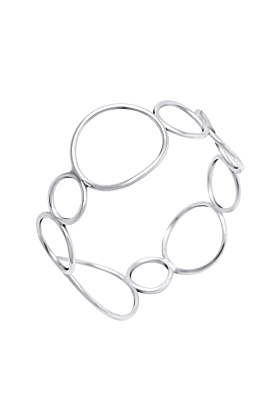 Sterling Silver Cuff of Circles