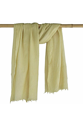 Woollen Naturally Dyed Eco-friendly Shawl Scarf | Botanica Soft Yellow