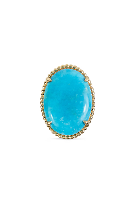 14kt Yellow Gold & Turquoise Statement Ring