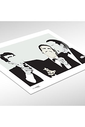 Rat Pack Hand and Digitally Drawn Poster