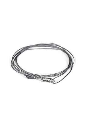 Grey Luke Wrap Bracelet