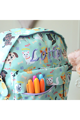 Personalised Cat and Dog Kids Backpack