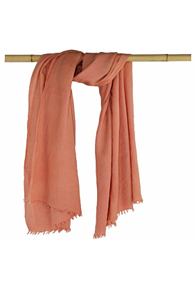 Woollen Naturally Dyed Eco-Friendly Shawl in Botanica Bright Pink