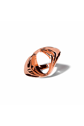 14kt Rose Gold Plated Water Ring