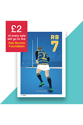 Rob Burrow - One Last Time, Hand and Digitally Drawn Poster