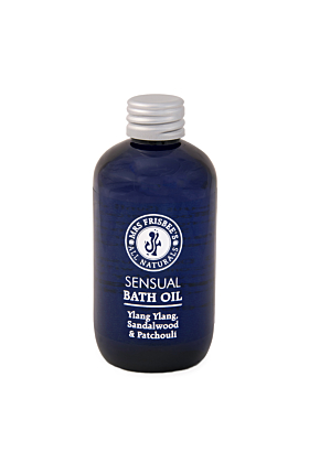 Sensual Bath Oil with Sandalwood, Patchouli & Ylang Ylang Essential Oils