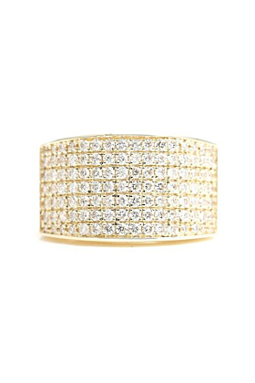 14kt Gold 7 Row Diamond Ring