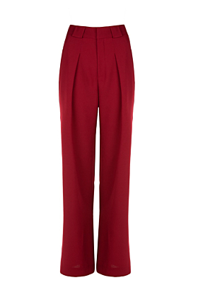 Red High-Waisted Siena Pant