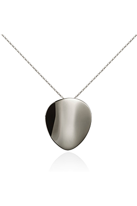 Stainless Steel Large Mirror Pendant Necklace