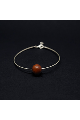 Lana Small Red Wood Bead Cable Bracelet | Unisex