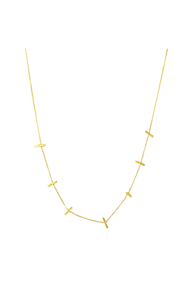 14kt Gold Stardust Star Crossed Lovers Demi Necklace