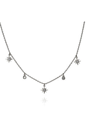Collar Necklace with North Star Charms