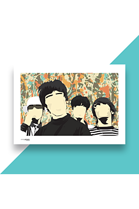 Stone Roses Hand and Digitally Drawn Poster