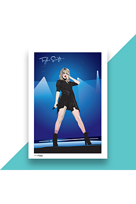 Taylor Swift Hand and Digitally Drawn Poster