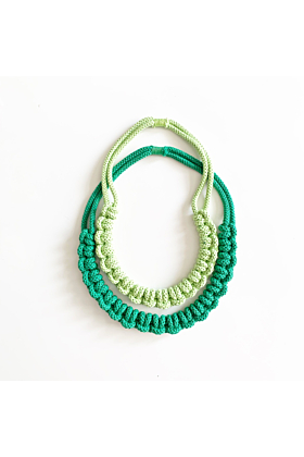 Cotton Rope Knitted Necklace | Knotty Necklace