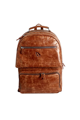 Brown Designer Leather Backpack