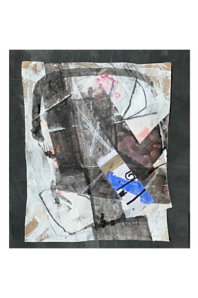 Blue Grey 1 Summer 2020 | Mixed Media Collage
