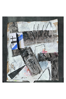 Blue Grey 2 Summer 2020 | Mixed Media Collage