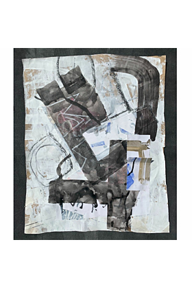 Blue Grey 3 Summer 2020 | Mixed Media Collage