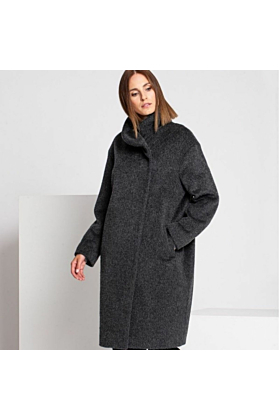 SALE Fine Women's Wool Coat In Grey