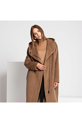SALE Wool Coat Cozy In Camel
