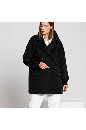 SALE Wool Coat Gentle In Black