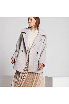 Wool Coat Woolly In Light Grey Mel