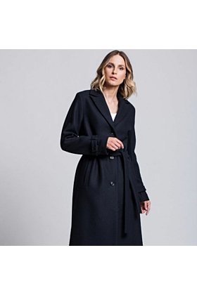 SALE Wool Coat Moderation In Dark Navy