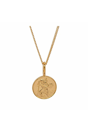 Gold Plated St Christopher Charm