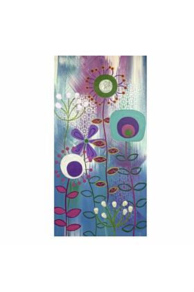 MCM Floral I | Acrylic Canvas Painting